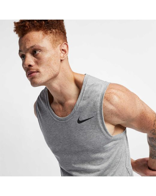 a79c3d5824f96 ... Nike - Gray Reathe Hyper Dry Training Tank Top for Men - Lyst