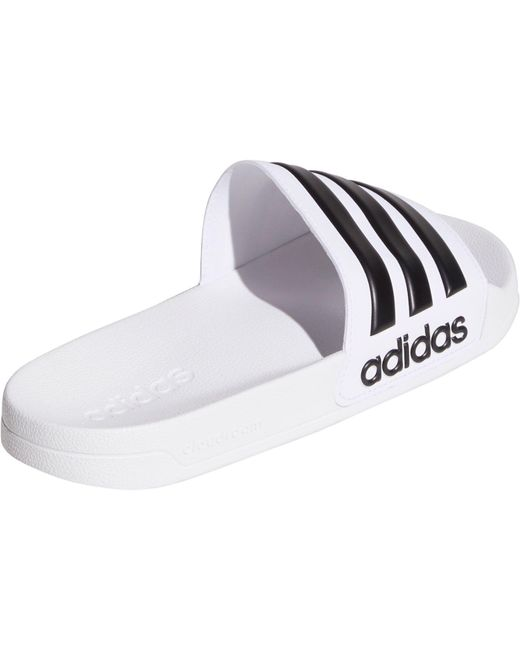 97a7ffef4ae8 Lyst - adidas Adilette Shower Slide Sandals in White for Men - Save 24%