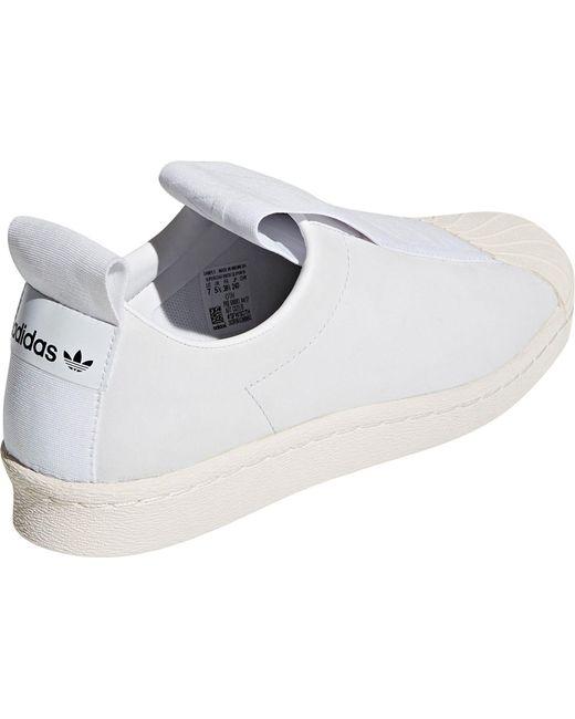 lyst adidas originali adidas superstar mocassini bianchi