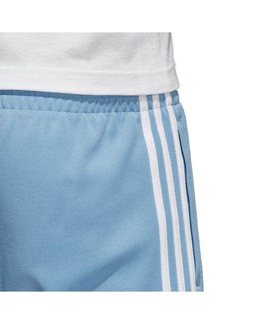 lyst adidas superstar - pantaloni blu tracce originali per gli uomini