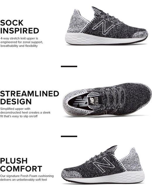537485bfe ... New Balance - Blue Fresh Foam Cruz V2 Sockfit Running Shoes for Men -  Lyst