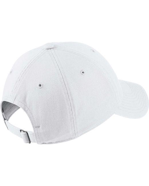 timeless design 1b258 276b2 Nike. Men s White Sportswear H86 Cotton Twill Adjustable Hat