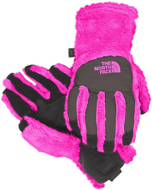 The North Face - Pink Girls' Denali Thermal Etip Gloves - Lyst