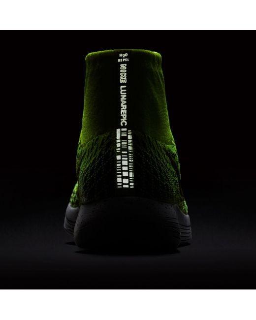 ... Nike - Green Lunarepic Low Flyknit Shield Running Shoes for Men - Lyst