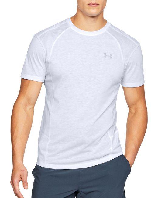 Under Armour - White Threadborne Microthread Swyft Running T-shirt for Men - Lyst