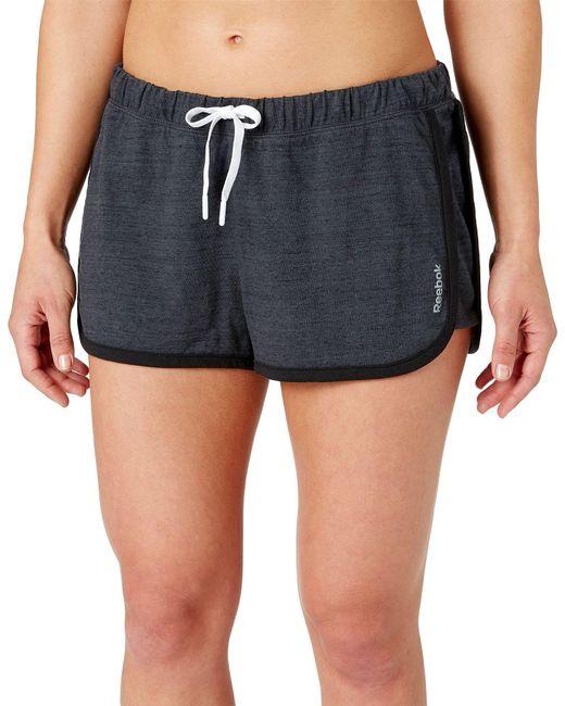 Reebok - Black Jersey Shorts - Lyst