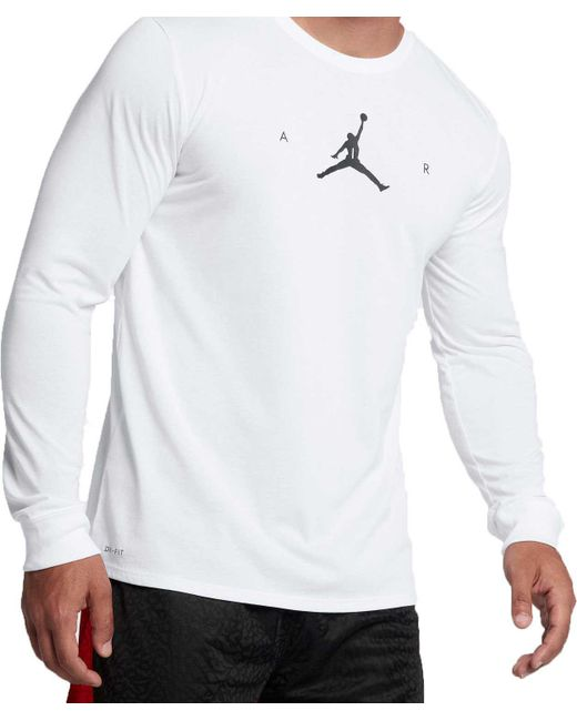 Lyst - Nike Air Jumpman Long Sleeve Basketball Shirt In -9896