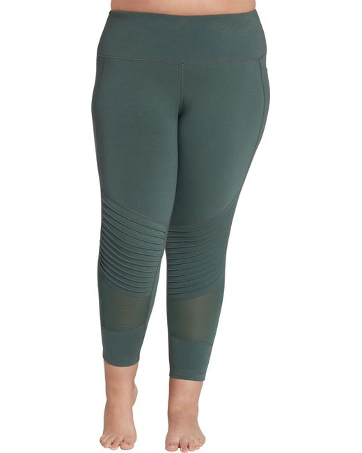8d011140b6e14 Reebok - Green Plus Size Stretch Cotton Moto Tights - Lyst ...