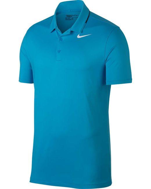 f3824b12a509 Nike - Blue Icon Elite Golf Polo for Men - Lyst ...