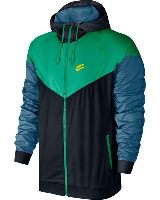 74ba781301 Nike - Green Windrunner Full Zip Jacket for Men - Lyst ...
