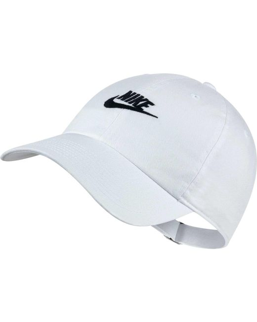 1d0f0b011dae6 Nike Sportswear H86 Cotton Twill Adjustable Hat in White for Men - Lyst