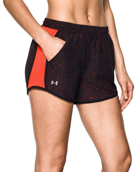 Under Armour - Multicolor Fly By Printed Shorts - Lyst