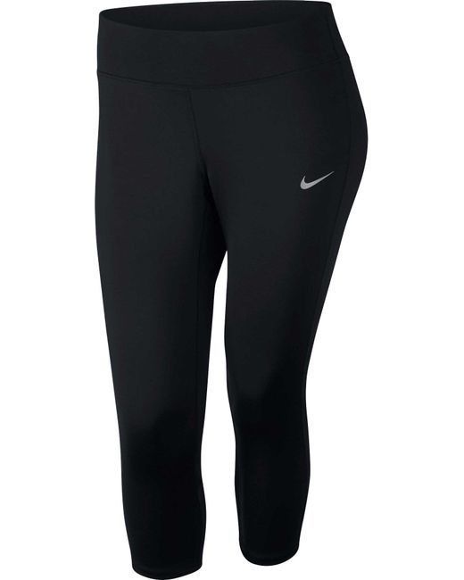 Nike - Black Plus Size Racer Crop Running Tights - Lyst