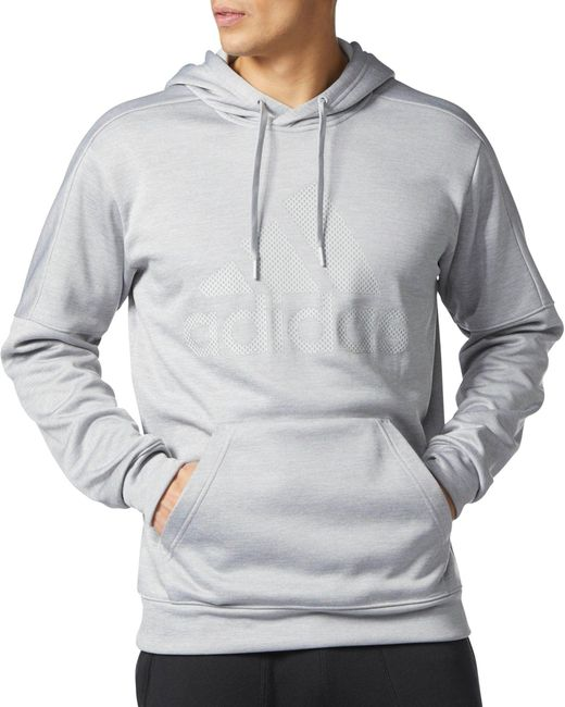 Adidas - Gray Team Issue Hoodie for Men - Lyst