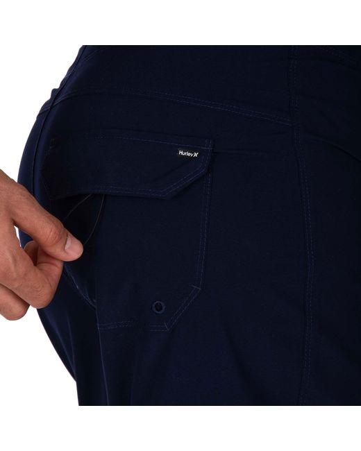 7ebb5c80bb ... Hurley - Blue Americana Icon Solid Board Shorts for Men - Lyst ...