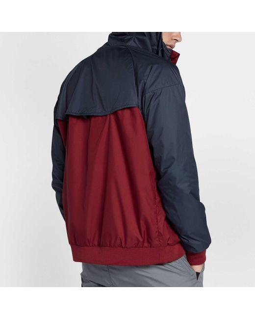 6c5517a417 ... Nike - Blue Windrunner Full Zip Jacket for Men - Lyst ...