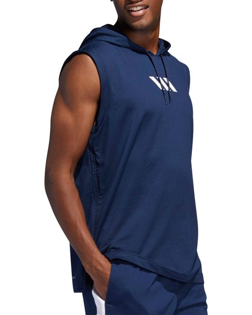 e7f7f88a ... Adidas - Blue Pro Madness Basketball Hoodie for Men - Lyst ...