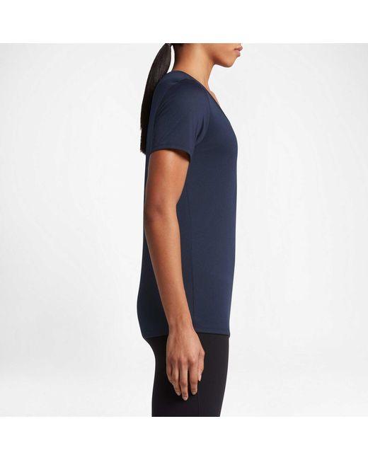 e8881d6ba4a7 Lyst - Nike Woman s Dry Legend Training T-shirt in Blue