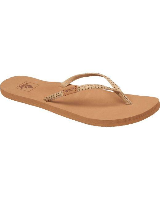 033a8323535b ... Reef - Brown Slim Ginger Stud Flip Flops - Lyst ...