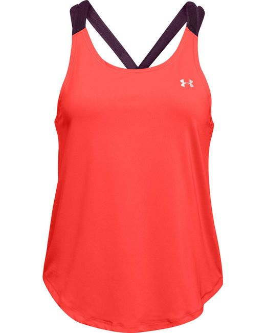 Under Armour - Red Armour Sport Strappy Tank Top - Lyst