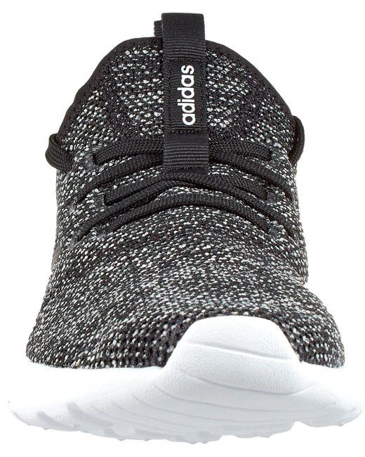 lyst adidas cloudfoam reine schuhe in schwarz für männer