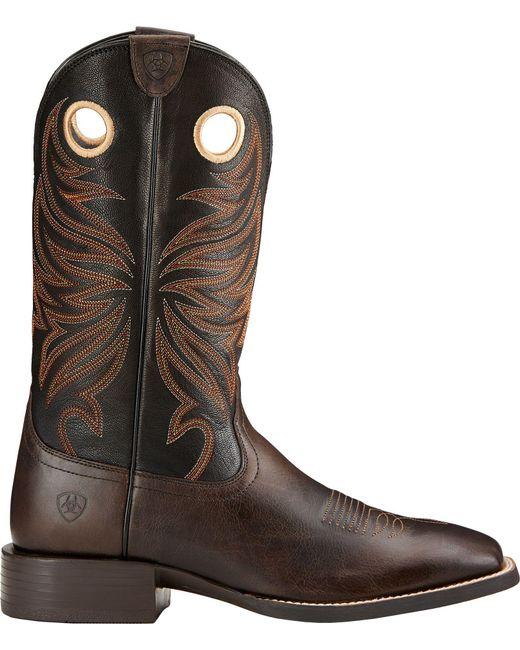 Ariat - Brown Sport Rider Western Boots for Men - Lyst