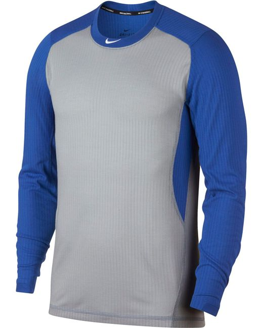 80509edb Nike - Gray Long-sleeve Baseball Top for Men - Lyst ...