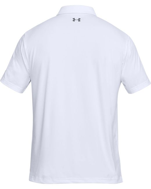 529a18e8ed ... Under Armour - White Playoff Line Print Golf Polo for Men - Lyst