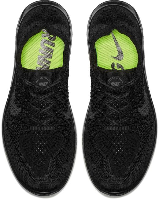 43e729dfd7ba ... Nike - Black Free Rn Flyknit 2018 Running Shoes for Men - Lyst ...