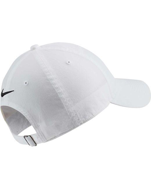 a635ffa6b8e57 ... Nike - White Sportswear Heritage86 Just Do It Cap for Men - Lyst
