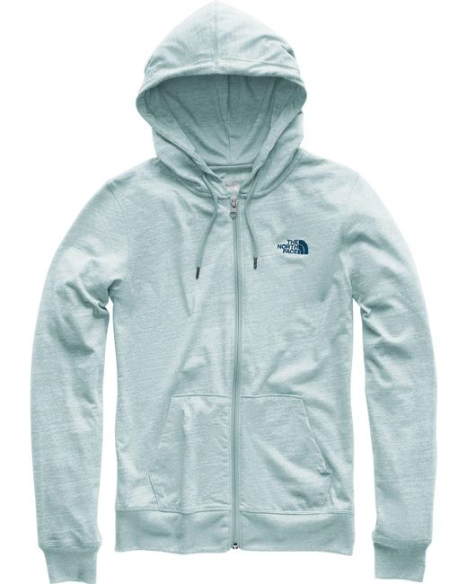 The North Face - Blue Lite Weight Full Zip Hoodie - Lyst