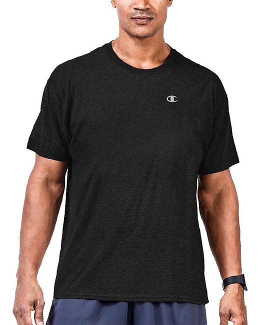Lyst champion jersey t shirt big tall in black for men for Big n tall shirts