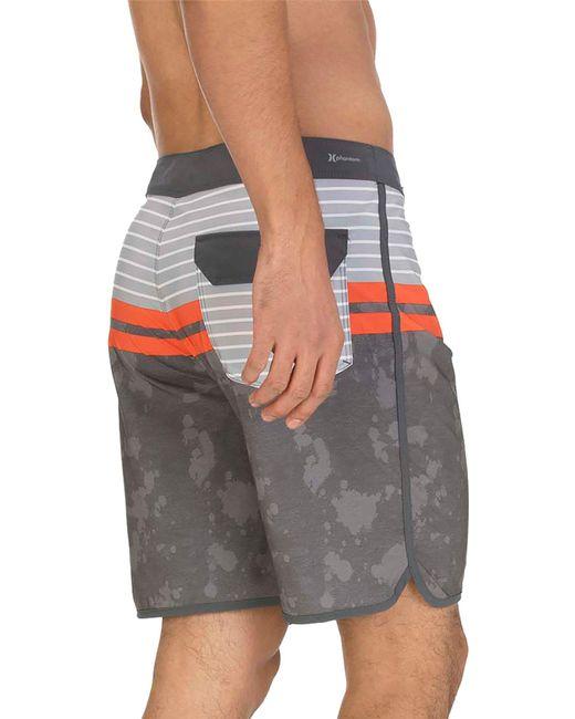 5442e09f7f ... Hurley - Gray Phantom Aloha Stripe Board Shorts for Men - Lyst ...