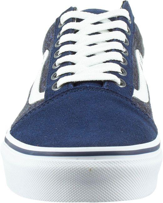 42a9148f76 ... Vans - Blue Suede Old Skool Shoes for Men - Lyst ...