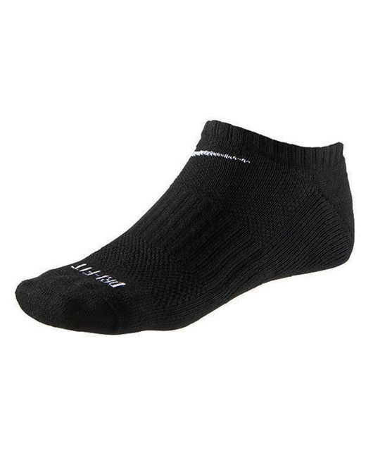 Nike - Black Dri-fit No Show Socks 6 Pack for Men - Lyst
