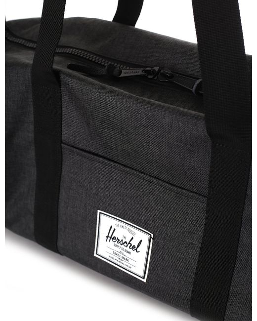 51e229b3c07e ... Herschel Supply Co. - Sutton Duffle Bag Mid Volume Black Crosshatch  black for Men ...