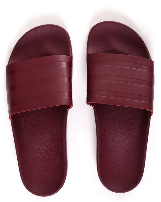 b79bdbada ... Lyst Adidas - Purple Men s Adilette Slides Collegiate Burgundy for Men  ...
