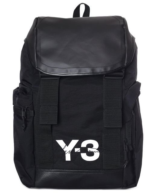 Y-3 Men s Logo Back Pack Black in Black for Men - Lyst 94b79eb342b3f