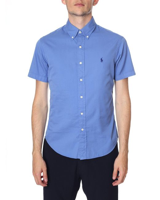 Polo Ralph Lauren - Blue Slim Fit Short Sleeve Sport Shirt for Men - Lyst