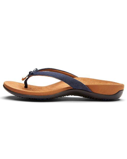 5097ee77920e ... Vionic - Blue Bella Ii Bow Detail Denim Flip-flops - Lyst