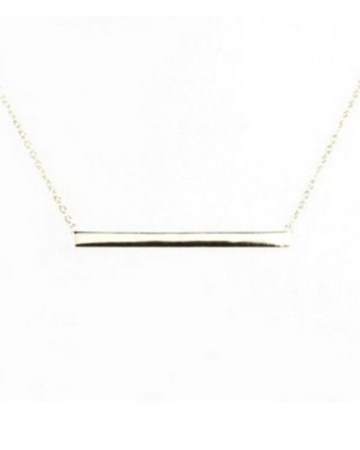 Argento Vivo - Metallic Straight Bar Pendant Necklace - Lyst
