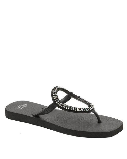Sanuk - Black Ibiza Monaco Jeweled Sandals - Lyst