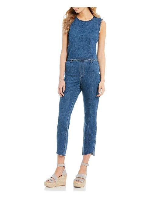594fa2124e6c Ella Moss - Blue Split Back Jumpsuit - Lyst ...