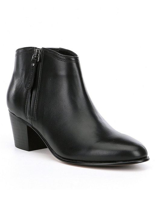 Clarks | Black Maypearl Alice Leather Booties | Lyst