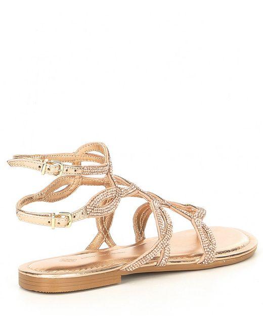 ac2ef0a11b7f ... Antonio Melani - Multicolor Lacila Ornamented Flat Sandals - Lyst ...