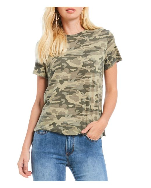 Gianni Bini - Multicolor Nina Short Sleeve Camo Tee - Lyst