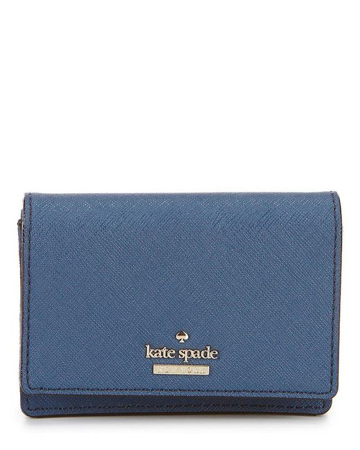Kate Spade | Blue Cameron Street Collection Beca Trifold Wallet | Lyst