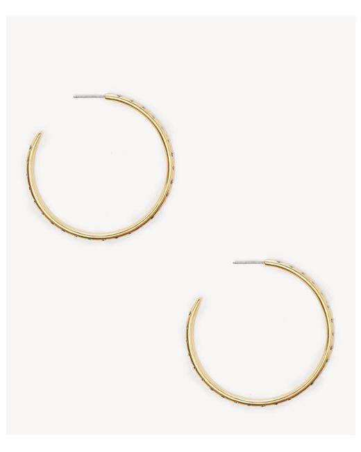 Sole Society - Metallic Hoop Earrings - Lyst