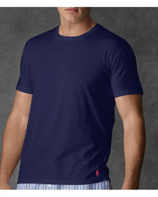 Polo Ralph Lauren - Blue Big & Tall Supreme Comfort Jersey Crewneck Tee for Men - Lyst