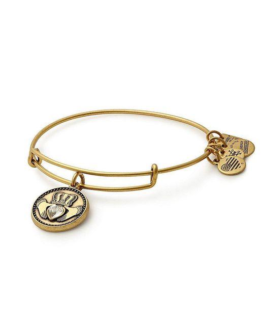 ALEX AND ANI | Metallic Claddagh Charm Bangle Bracelet | Lyst